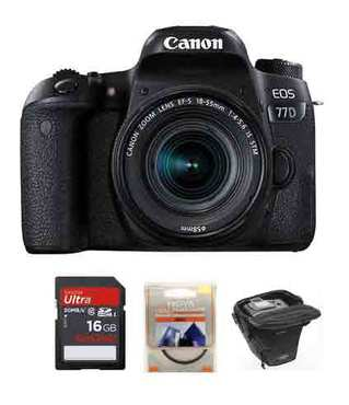 Canon EOS 77D kit 18-55 mm STM + Starterkit