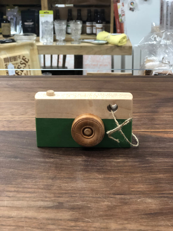 Locally Handcrafted Wooden Toy Camera