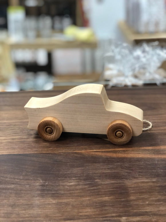 Locally Handcrafted Wooden Toy Car