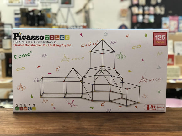 Picasso Tiles - Flexible Construction Fort Building Toy Set