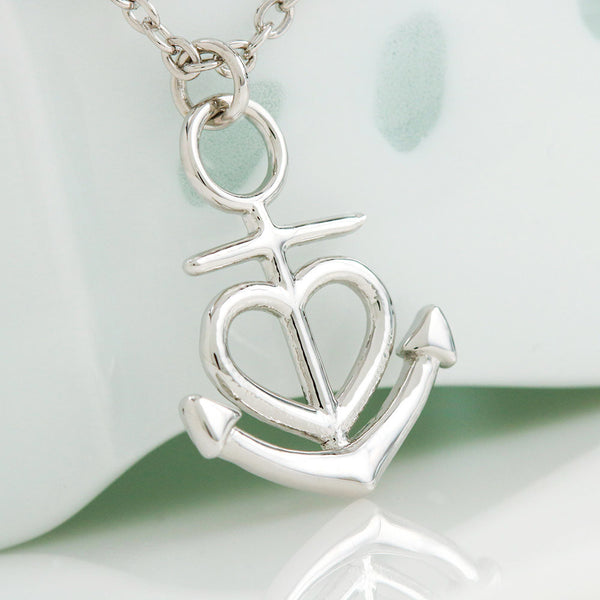 "Anchor Heart Necklace with ""I Love Myself"" Affirmations Card"