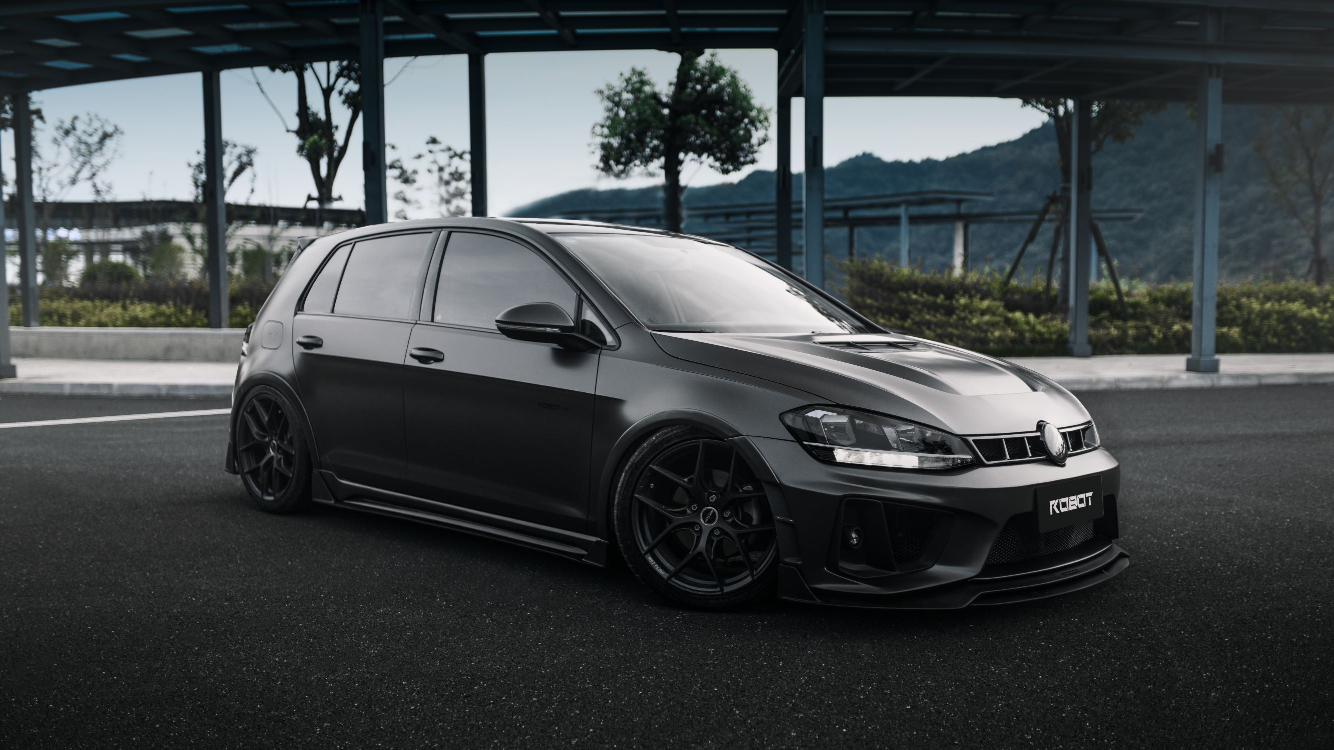 ROBOT CRAFTSMAN Carbon Fiber Baby Widebody Kit For Volkswagen GTI MK7 MK7.5