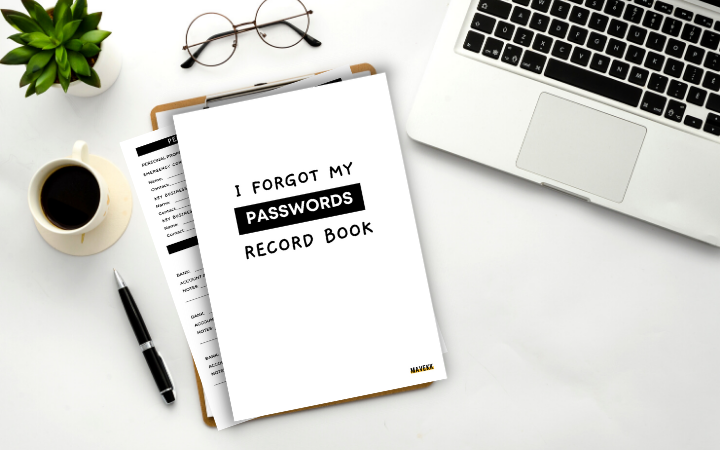 I Forgot My Passwords Record (Digital)