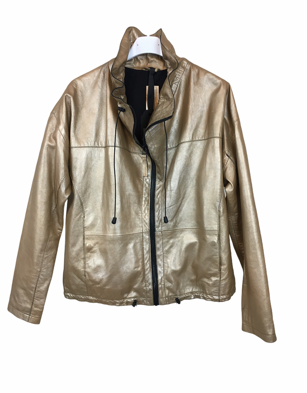 Freaky Nation Lederjacke, gold