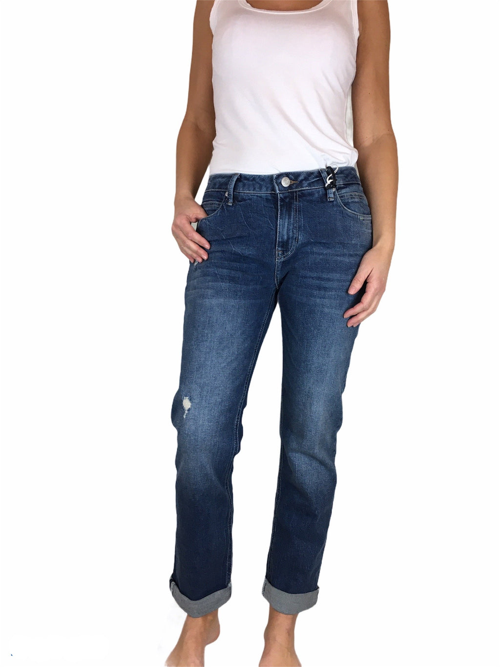 Boyfriend Stretchjeans  OLIVIA in lockerer Passform von BluefireCo.