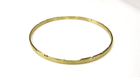 Rickard Banjos Tension Hoop - Notched Hardware Rickardbanjos 12 inch 26 notch Raw Brass