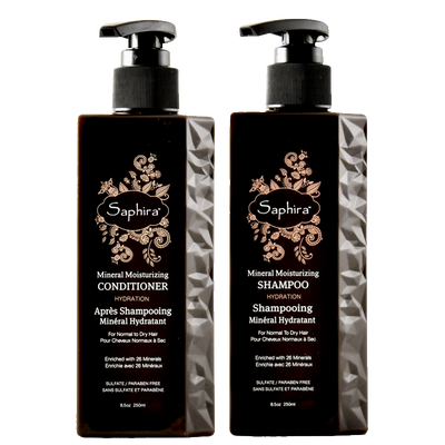 Mineral Moisturizing Shampoo & Conditioner Bundle - Saphira