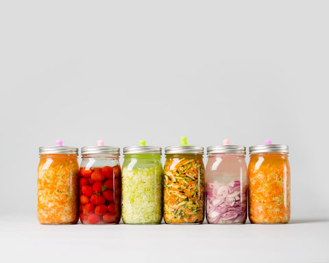 vegetables fermenting in a brine