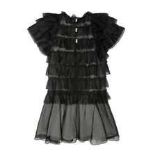 Load image into Gallery viewer, Black Organdy Ruffle Layered Dress
