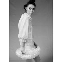 Load image into Gallery viewer, Cotton Tulle Ruffle Hem Shift Dress