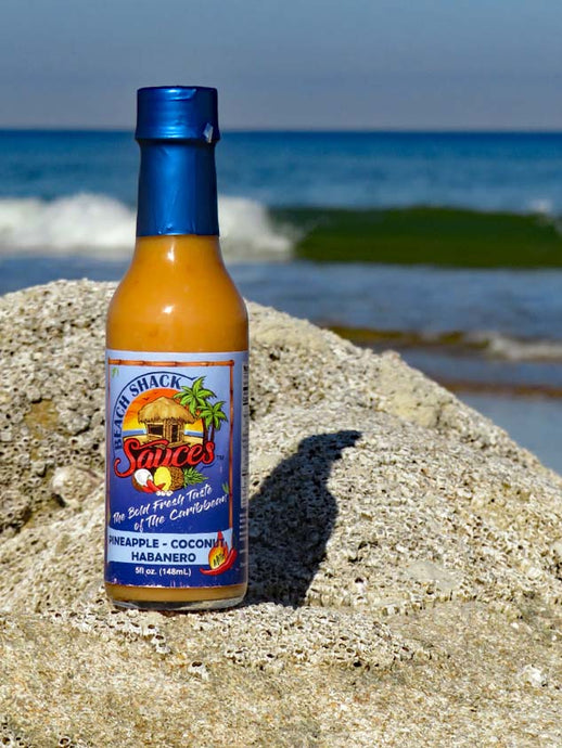 Fresh Pineapple Coconut Habanero Hot Sauce 5oz Bottle