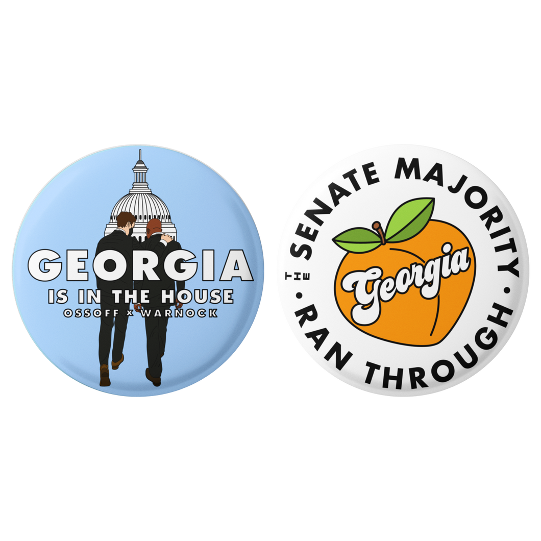 GEORGIA IS IN THE HOUSE BUTTON PACK