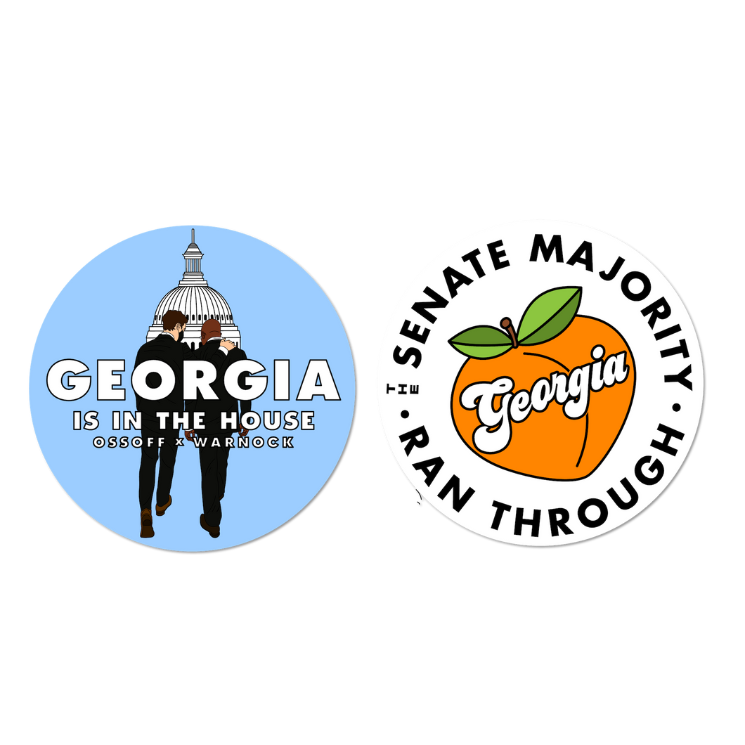 GEORGIA IS IN THE HOUSE STICKER PACK