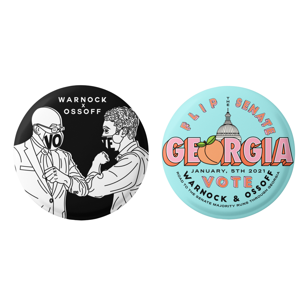 WARNOCK x OSSOFF BUTTON PACK