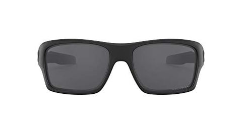 Oakley Men's Turbine Sunglasses, Matte Black/Grey Polarized