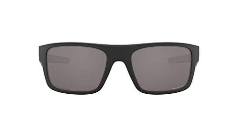 Oakley Men's Drop Point Sunglasses, Matte Black/Prizm Black Polarized