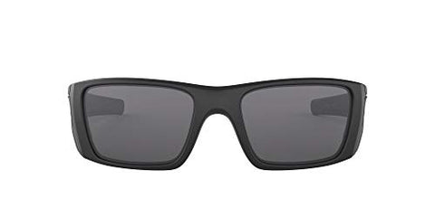 Oakley Men's Fuel Cell Rectangular Sunglasses, SI Matte Black/Grey