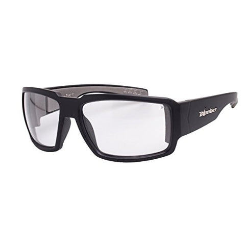 Bomber Safety Glasses - Boogie, Matte Black/Clear