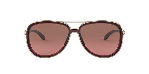 Oakley Women's Split Time Metal Polarized Aviator Sunglasses, Crystal Raspberry/G40 Black Gradient