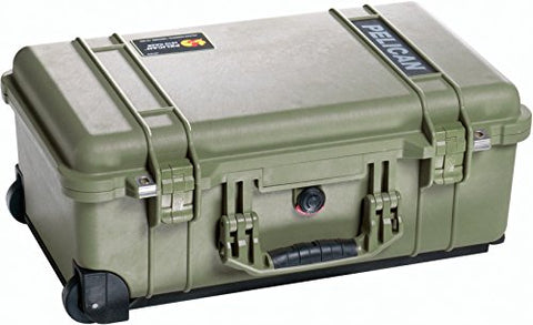 Pelican 1510 Case, w/ Padded Dividers, OD Green