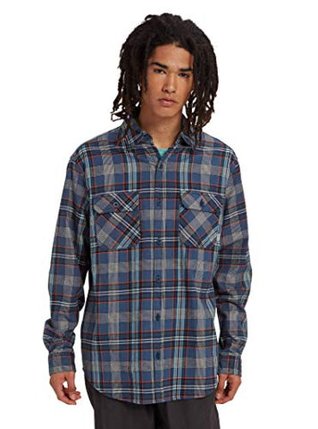 Burton Men's Brighton Flannel, Dress Blue Somerset, Small