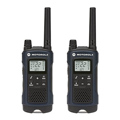 Motorola Talkabout T460, Rechargeable Two-Way Radio Pair, Dark Blue