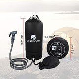 DR.PREPARE Camping Shower, Portable Outdoor Camping Shower