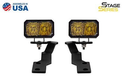 Diode Dynamics SSC2 LED Ditch Light Kit compatible - for Toyota Tacoma 2016-2020, Yellow