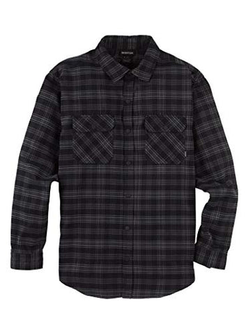 Burton Men's Brighton Flannel, Iron Plaid, Medium