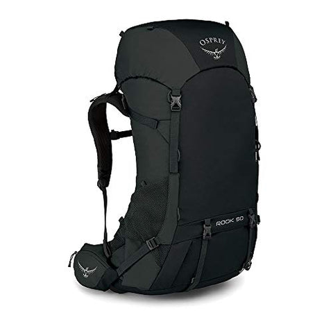 Osprey Rook 50 Men's Backpacking Backpack, Black