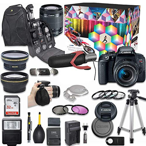 Canon EOS Rebel T7i DSLR Kit, w/ Kit and Wide Lens, 32GB SD Memory Card