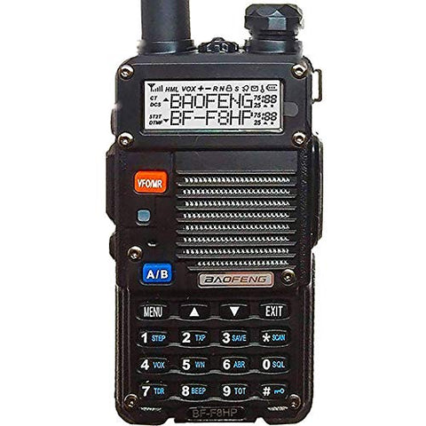 BaoFeng BF-F8HP, 8-Watt Dual Band Two-Way Radio, VHF/UHF