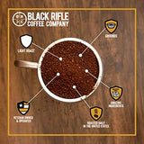 Black Rifle Coffee Ground, Silencer Smooth (Light Roast), 12oz