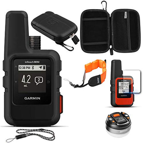 Garmin inReach Mini GPS, w/ Accessories Bundle, Black