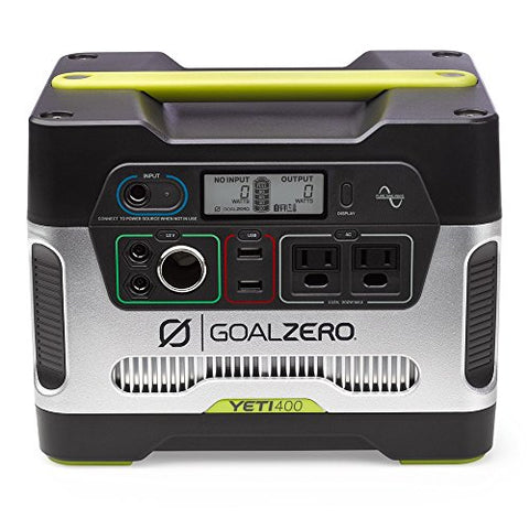 Goal Zero Yeti 400 Portable Power Station, 400Wh Battery Powered Generator