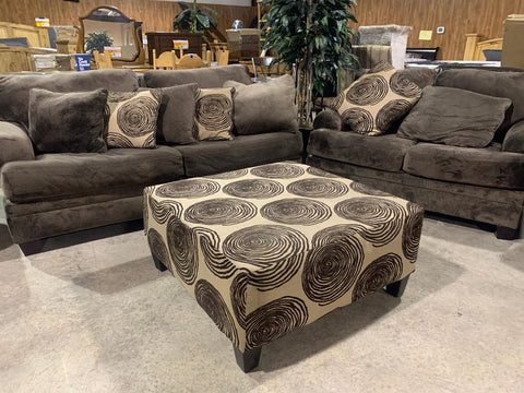 Large brown Sofa and Loveseat with ottoman