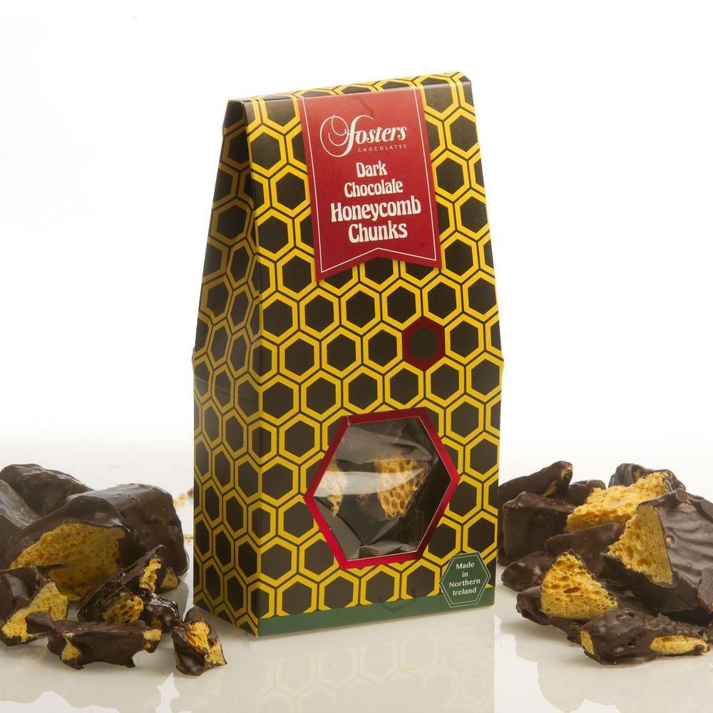 Load image into Gallery viewer, Dark Chocolate Honeycomb Chunk Gift Box