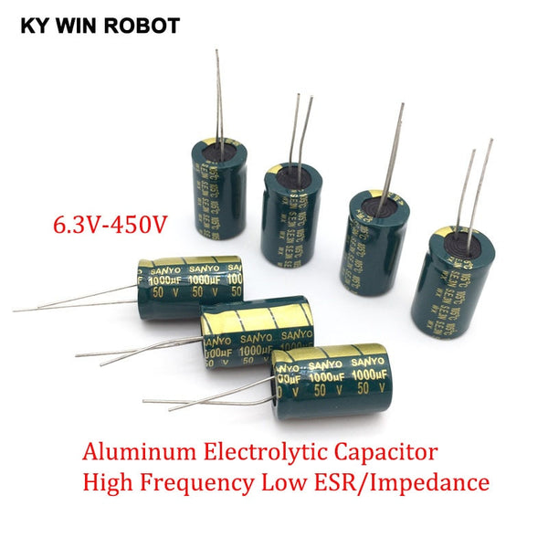 2-50pcs 10V 16V 25V 35V 50V High Frequency Low ESR Aluminum Capacitor 100UF 220UF 330UF 470UF 680UF 1000UF 1500UF 2200UF 3300UF