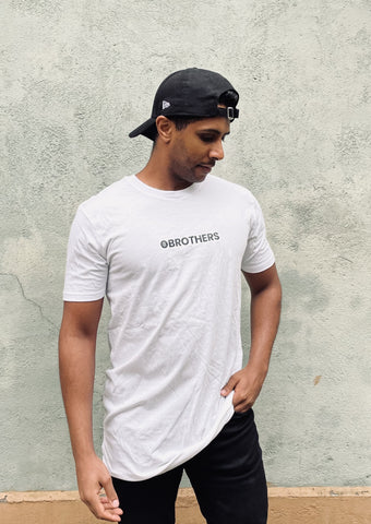Long Fit Brothers T-Shirt (White)