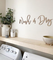 Wash & Dry Wooden Sign