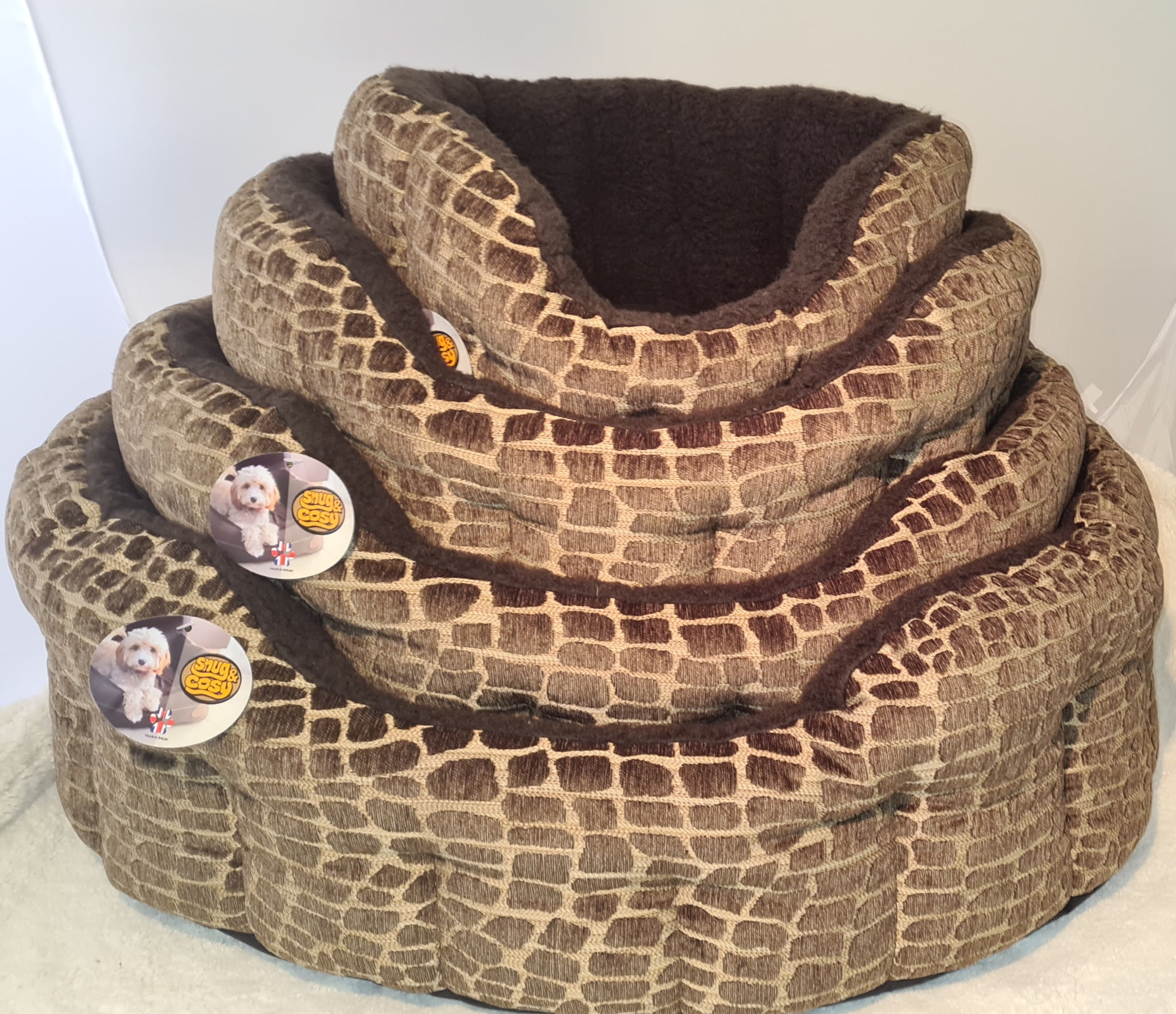 Snug and Cosy Dog Bed Softie Brown