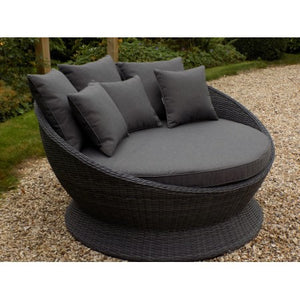Chamonix Rattan Day Bed Charcoal