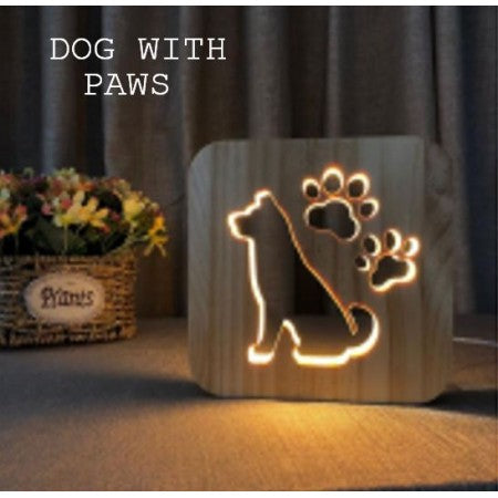 USB LAMP DOG WITH PAWS