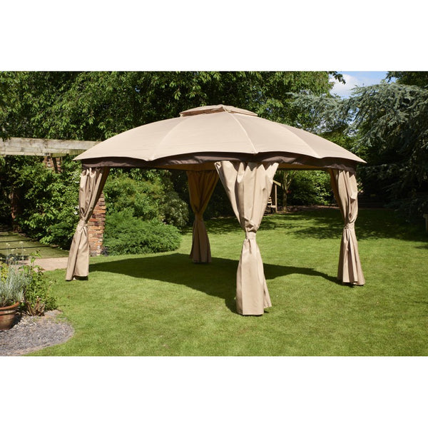 Rio 3m x 3.65m Gazebo Canopy Light Brown