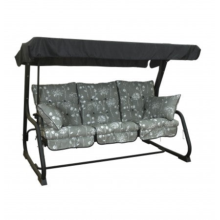 Pendulum 3 Seater steel hammock swing Grey