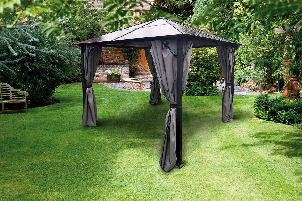 Glendale Peninsula Gazebo Mosquito Curtain Set