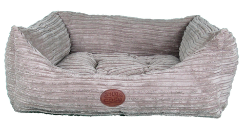 Snug and Cosy San Remo chunky cord Rectangular Pet Bed