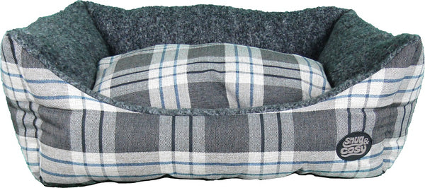 Snug and Cosy Kensington Check Rectangular Pet Bed