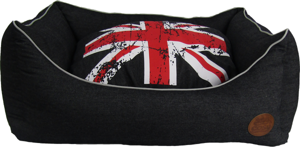 Snug and Cosy Denim Union Jack Rectangular Pet Bed