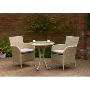 Colmar Rattan Tea for Two Furniture Set Latte